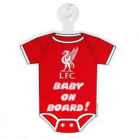 Liverpool FC Baby On Board Sign