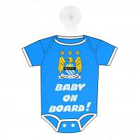 Manchester City FC Baby On Board Sign