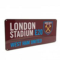 West Ham United FC Street Sign CL