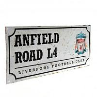 Liverpool FC Street Sign - Retro