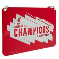 Liverpool FC Champions Of Europe Bedroom Sign