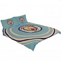 Manchester City FC Duvet Cover Bedding Set - Double