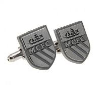 Manchester City FC Cufflinks - Chrome