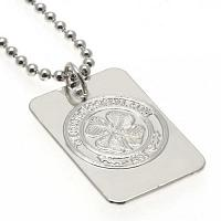 Celtic FC Dog Tag & Chain - Silver Plated