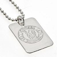 Chelsea FC Dog Tag & Chain - Silver Plated