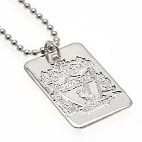 Liverpool FC Dog Tag & Chain - Silver Plated