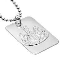 Newcastle United FC Dog Tag & Chain - Silver Plated