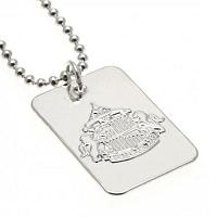 Sunderland AFC Dog Tag & Chain - Silver Plated