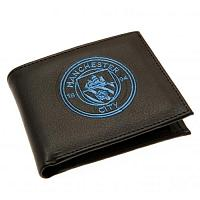 Manchester City FC Leather Wallet - Embroidered Crest