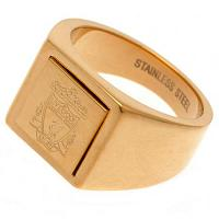 Liverpool FC Gold Plated Signet Ring Small