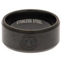Celtic FC Black IP Plated Ring Large