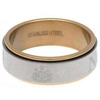 Newcastle United FC Bi Colour Spinner Ring Large