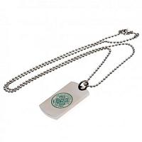 Celtic FC Colour Crest Dog Tag & Chain