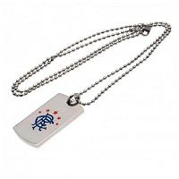 Rangers FC Colour Crest Dog Tag & Chain