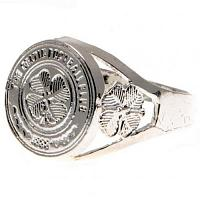 Celtic FC Ring - Silver Plated - Size X
