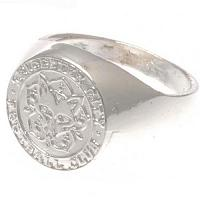 Leicester City FC Ring - Silver Plated - Size U