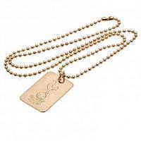 Tottenham Hotspur FC Dog Tag & Chain - Gold Plated