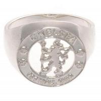 Chelsea FC Ring - Sterling Silver - Size R