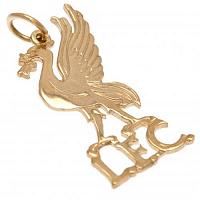 Liverpool FC 9ct Gold Pendant Liverbird Medium