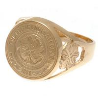 Celtic FC 9ct Gold Crest Ring Medium