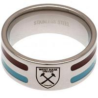 West Ham United FC Ring - Colour Stripe - Size X