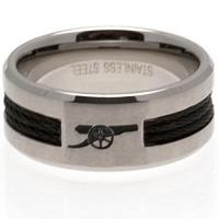 Arsenal FC Ring - Black Inlay - Size R