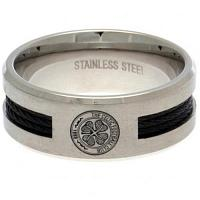 Celtic FC Ring - Black Inlay - Size R