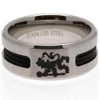 Chelsea FC Ring - Black Inlay - Size R
