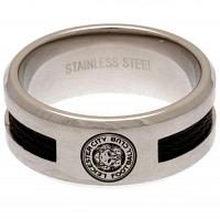 Leicester City FC Black Inlay Ring Large