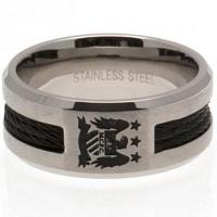 Manchester City FC Black Inlay Ring Medium EC