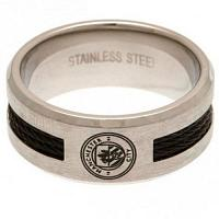 Manchester City FC Ring - Black Inlay - Size R