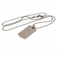 Manchester City FC Dog Tag & Chain - Engraved Crest