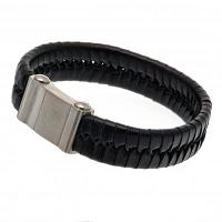 Arsenal FC Leather Bracelet - Single Plait
