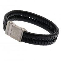 Chelsea FC Leather Bracelet - Single Plait
