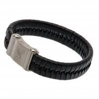 Liverpool FC Leather Bracelet - Single Plait