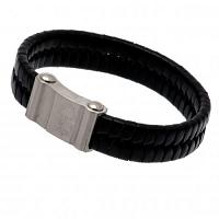 Nottingham Forest FC Leather Bracelet - Single Plait