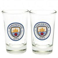 Manchester City FC 2pk Shot Glass Set