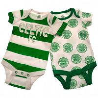 Celtic FC 2 Pack Bodysuit Newborn