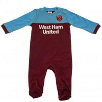 West Ham United FC Sleepsuit 12/18 mths ST