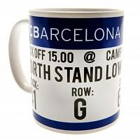 FC Barcelona Mug - Match Ticket