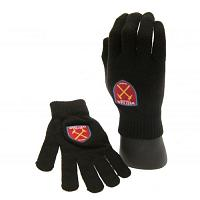 West Ham United FC Knitted Gloves Junior