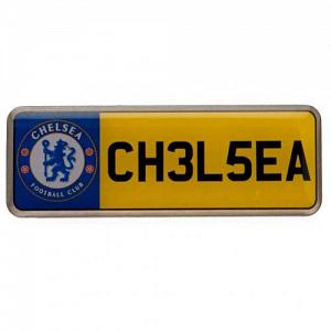 Chelsea FC Pin Badge - Number Plate 1