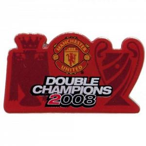 Manchester United FC Pin Badge - Double Champions 1