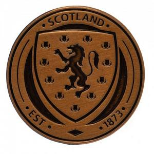 Scotland FA Antique Gold Plated Badge 2