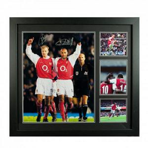 Arsenal FC Bergkamp & Henry Signed Framed Print 1