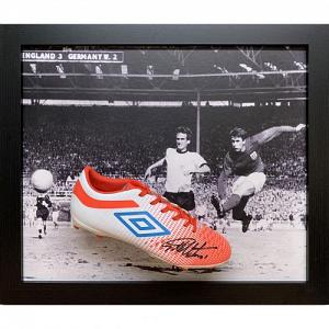 England FA Hurst Signed Boot (Framed) 1