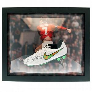 Manchester United FC Cantona Signed Boot (Framed) 1