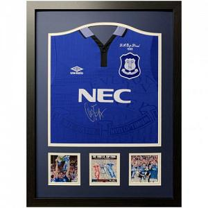 Everton FC Ferguson Signed Shirt (Framed) 1
