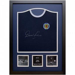 Scotland FA Denis Law Signed Shirt (Framed) 2