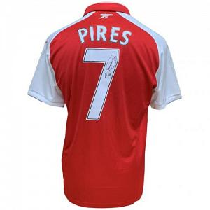 Arsenal FC Pires Signed Shirt 1